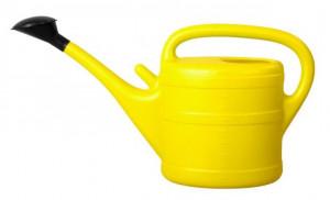Plastová konev s kropítkem, Geli, objem 10 l, žlutá