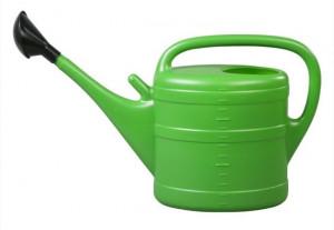 Plastová konev s kropítkem, Geli, objem 14 l, zelená