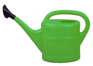 Plastová konev s kropítkem, Geli, objem 5 l, zelená