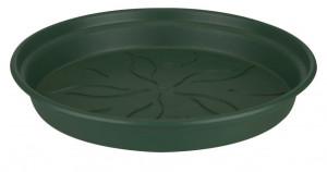Plastová podmiska pod květináč elho GREEN BASICS, průměr 10 cm, tmavě zelená