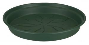 Plastová podmiska pod květináč elho GREEN BASICS, průměr 14 cm, tmavě zelená