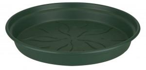 Plastová podmiska pod květináč elho GREEN BASICS, průměr 17 cm, tmavě zelená
