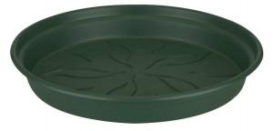 Plastová podmiska pod květináč elho GREEN BASICS, průměr 22 cm, tmavě zelená