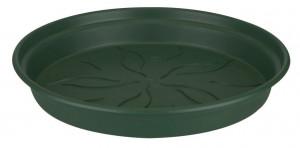 Plastová podmiska pod květináč elho GREEN BASICS, průměr 25 cm, tmavě zelená