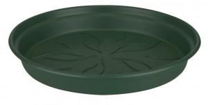 Plastová podmiska pod květináč elho GREEN BASICS, průměr 34 cm, tmavě zelená