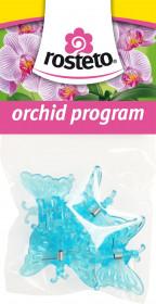 Plastové klipsy pro orchidej, Rosteto MOTÝL, modré, 4 ks