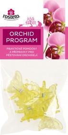 Plastové klipsy pro orchidej, Rosteto MOTÝL, žluté, 4 ks