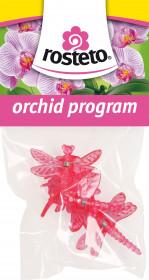 Plastové klipsy pro orchidej, Rosteto VÁŽKA, červené, 4 ks