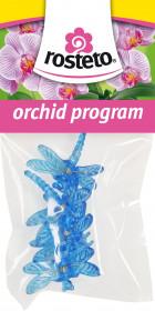 Plastové klipsy pro orchidej, Rosteto VÁŽKA, modré, 4 ks