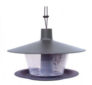 Plastové krmítko pro ptáky, Plastia FINCH, antracit