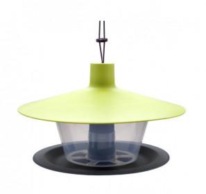 Plastové krmítko pro ptáky, Plastia FINCH, zelená a antracit