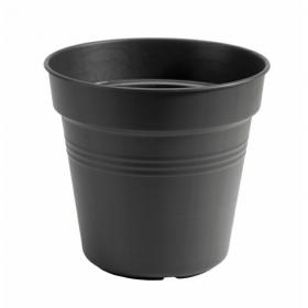 Plastový květináč elho GREEN BASICS, průměr 13 cm, černý