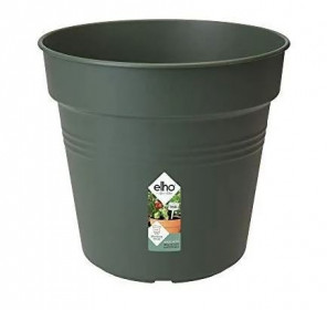 Plastový květináč elho GREEN BASICS, průměr 27 cm, tmavě zelený
