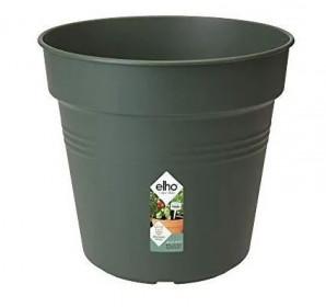 Plastový květináč elho GREEN BASICS, průměr 30 cm, tmavě zelený
