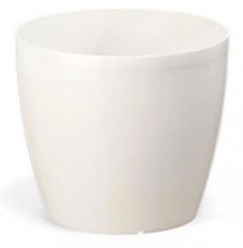 Plastový obal na květináč MAGNOLIA, průměr 15 cm, perleťově bílý