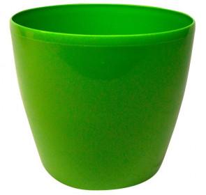 Plastový obal na květináč MAGNOLIA, průměr 15 cm, zelený