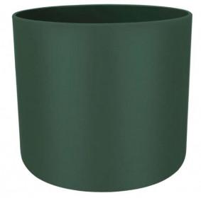 Plastový obal na květináč pro orchidej elho B.FOR SOFT, průměr 16 cm, tmavě zelený
