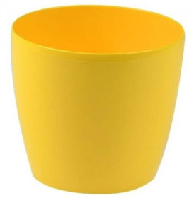 Plastový obal na květináč Scheurich MAGNOLIA, průměr 13 cm, žlutý