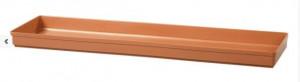Podmiska pod truhlík GLORIA 50 - hladká, terakotová
