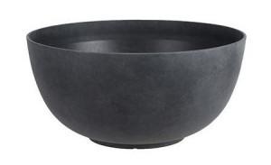 Polypropylenová kulatá žardina Mica BRAVO, průměr 35 cm, antracitová