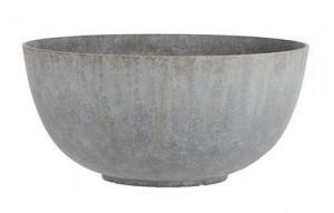 Polypropylenová kulatá žardina Mica BRAVO, průměr 55 cm, šedá