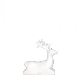 Porcelánová figurka, jelen, 12x5.5x12cm, bílá
