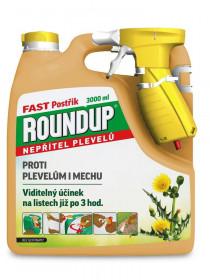 Postřikový likvidátor plevele a mechu, ROUNDUP FAST, balení 3 l