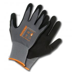 Pracovní rukavice Rostaing DURAGRIP, UNISEX, velikost 9, šedé