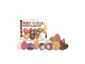 Pražené mandle v čokoládě, Mixit VAJÍČKA V ČO-KOKO-LÁDĚ, dóza, 240 g
