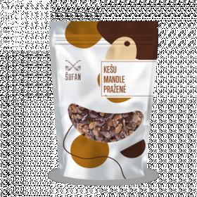 Pražené ořechy, Šufan Kešu a mandle, sáček, 200 g