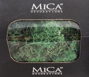 Preparovaný lišejník, Mica, 50 g, tmavě zelený