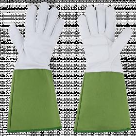 Prodloužené zahradní rukavice Esschert Design, UNISEX, velikost L, bílo - zelené