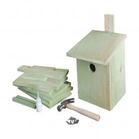 Ptačí budka na sestavení, Esschert Design dětský set, dřevo, zelená