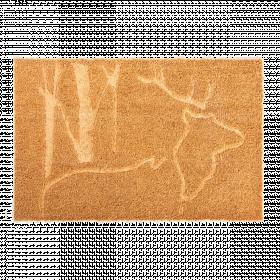Rohožka s motivem jelena, Esschert Design, kokosové vlákno, délka 75 cm