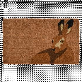 Rohožka s motivem zajíce, Esschert Design, kokosové vlákno, délka 75 cm