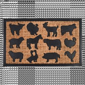 Rohožka s motivem zvířat, Esschert Design, kokosové vlákno, délka 75 cm