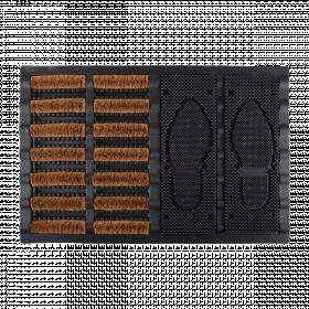 Rohožka s odkladačem obuvi, Esschert Design, gumová, délka 60 cm