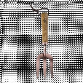 Rycí vidlička Esschert Design, délka 28 cm, 3 hroty, měděná