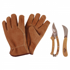 Sada nářadí pro roubování + rukavice, Esschert Design, 3 ks