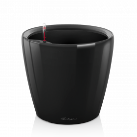 Samozavlažovací květináč Lechuza CLASSICO LS 28, komplet set, černý