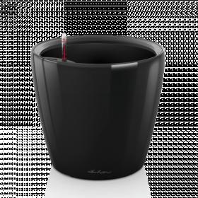 Samozavlažovací květináč Lechuza CLASSICO LS 43, komplet set, černý