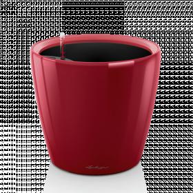 Samozavlažovací květináč Lechuza CLASSICO LS 43, komplet set, červený