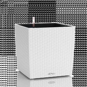 Samozavlažovací květináč Lechuza CUBE Cottage 30, komplet set, bílý
