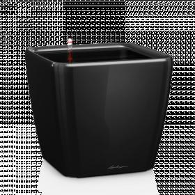 Samozavlažovací květináč Lechuza QUADRO LS 35, komplet set, černý