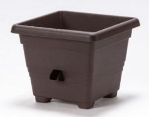 Samozavlažovací květináč Plastia BERGAMOT 30, čokoládový