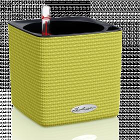 Samozavlažovací stolní květináč Lechuza CUBE Color 14, komplet set, limetkový