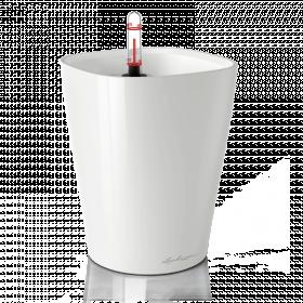 Samozavlažovací stolní květináč Lechuza DELTINI 14, komplet set, bílý