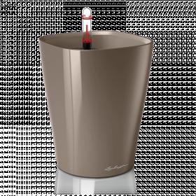 Samozavlažovací stolní květináč Lechuza DELTINI 14, komplet set, taupe