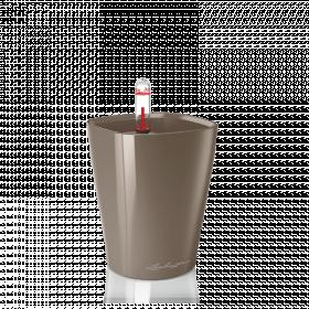 Samozavlažovací stolní květináč Lechuza MINI DELTINI 10, komplet set, taupe