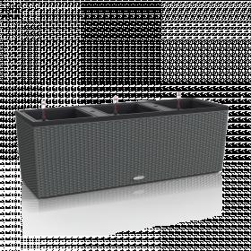Samozavlažovací truhlík Lechuza BALCONERA TRIO 130 - komplet set, šedý